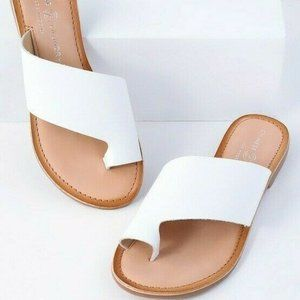 Chinese Laundry Size 7 Gemmy Leather Slide Sandals